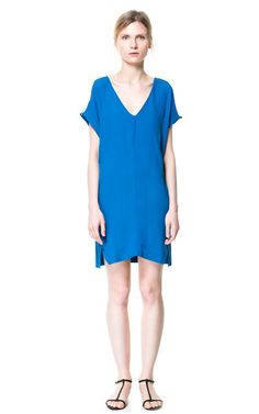 Image 2 of DRESS WITH SHOULDER SLITS from Zara