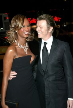 The two dazzling, ethereal superstars never lost that look of love. | Let's All Take A Moment To Appreciate David Bowie & Iman's Love Story