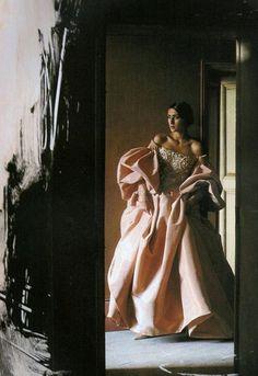 """""""Aux Couleurs Du Temps"""",  Vogue France, September 1991, Gisele Zelauy by David Seidner (80s-90s-supermodels)"""
