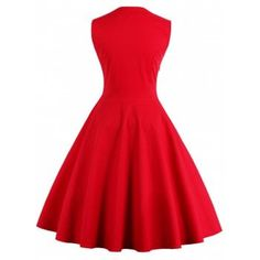 Midi Polka Dot Prom Rockabilly Swing Vintage Prom Dresses - L L