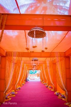 From Barren To Beautiful, This Destination Wedding Is A Complete Stunner Wedding Walkway, Wedding Gate, Wedding Entrance, Wedding Mandap, Wedding Hall Decorations, Marriage Decoration, Wedding Themes, Wedding Ideas, Gate Decoration