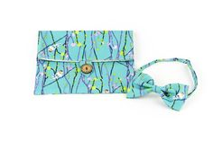 Bow tie and clutch by Night Shift Atelier