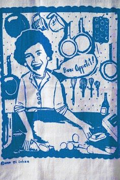 Elloh's Julia Child Tea Towel. $10. (This could be fun framed.)
