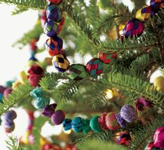 brightly colored palm garland would look festive on an eclectic tree mexican christmas decorations