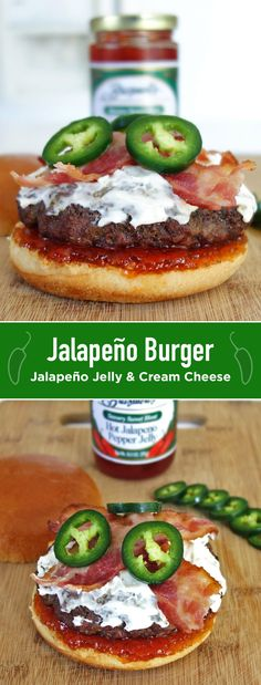 Step-by-step guide to make a Jalapeno Burger with Cream Cheese, Bacon, and Jalapeno Jelly. This burger melts in your mouth with a kick of spice!