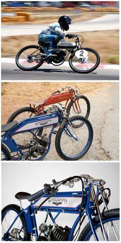 Vintage Sportsman Flyer Motorbike.
