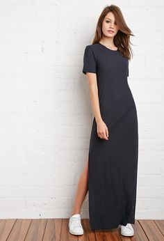20 Fashion Tricks About To Look Great In A Maxi Skirt During Any Season 1 – Online Women Magazine Cheap T Shirt Dresses, Maxi Tshirt Dress, Long Shirt Dress, Black Dress Outfits, Skirt Outfits, Casual Dresses, Fashion Dresses, Looks Black, Look Chic