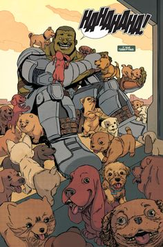This is the intro to the Indestructible Hulk Special I drew for Marvel, written by Mike Costa and colored by Jordie Bellaire.  You can buy it today at a comic shop! It's a blast to read.  Mike wrote the kind of comic I stayed up with when I was a kid, full of fun and surprises and character bits and puppies.  The baby X-Men are in it, and Dr. Spiderpus, too. A heads' up: my Hulk special is Part Two of a 3-part story.  You'll wanna grab Part One (drawn by Kris Anka) as ...