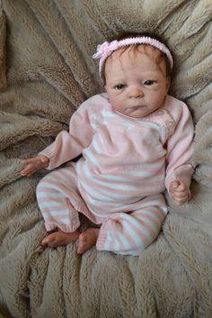 OOAK Reborn baby girl with 3d skin Lindsey  art doll artist newborn