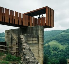 Walkway-lookout at las Minas de Rioseco