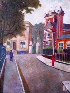 James Road by Henry Silk, East London Group art school, Bow, East End Camden London, London Art, East London, Camden Town, Bow Art, London Painting, Roman Roads, Urban Painting, British Travel