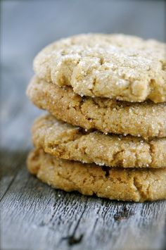 Spice Cookies | peanut butter * molasses * ginger * cinnamon * cloves * flaxseed | #vegan #GF