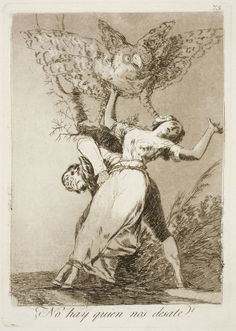 "Francisco de Goya: ""¿No hay quien nos desate?"". Serie ""Los caprichos"" [75]. Etching and aquatint on paper, 213 x 149 mm, 1797-99. Museo Nacional del Prado, Madrid, Spain"