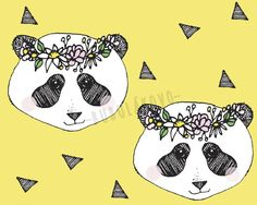 Úplet BIO Flower panda yellow