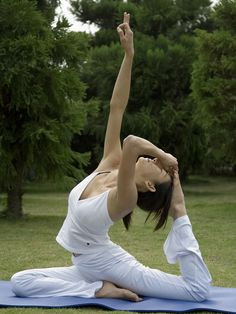 Yoga goal ... Pigeon pose is one of my favorites! Someday I will be able to do this variation.