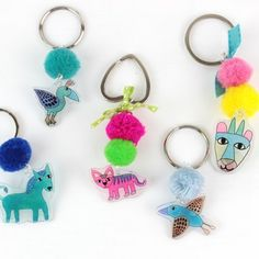 Learn how to use Plastic Shrink Film to create cute animals for your keyholders!