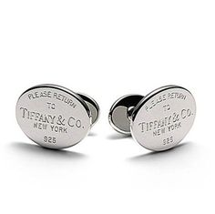 """""""Return to Tiffany's"""" cufflinks from Tiffany and Co."""