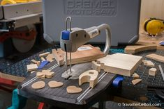 Introducing the Dremel Moto-Saw Scroll Saw. A very useful tool - Décoration et Bricolage Sculpture Dremel, Accessoires Dremel, Galaxy Jar, Intarsia Wood, Buy Lingerie, Handmade Wooden Toys, Rotary Tool, Scroll Saw, Miniature Furniture