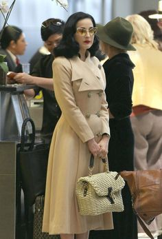 Dita Von Teese - Dita Von Teese Leaves LA —Too chic for words to express the absolute perfection of this outfit!