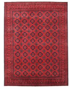 Khal Mohammadi are handknotted by Turkmenians in northern Afghanistan and in some cases they can also be handknotted in Pakistan by the Turkomans who have crossed over the borders.  Traditionally they have an elephant foot pattern and the Afghan carpet is famous for their beautiful red nuance.