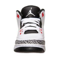 Boys' Grade School Air Jordan Retro 3 Basketball Shoes ❤ liked on Polyvore featuring air jordan 3