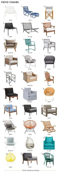 Chairs Emily Henderson Design Patio Furniture Roundup