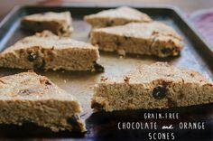 Grain-Free Chocolate and Orange Scones