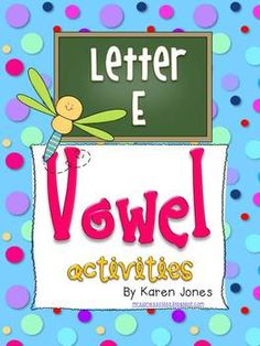 8 Short E and Long E Vowel centers and activities $