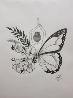 : minus man really love this butterfly tattoo human love ., : minus man really love this butterfly tattoo human love . Diana Herzog Mensch : minus man really love this butterfly tattoo human love . Cool Art Drawings, Pencil Art Drawings, Creative Pencil Drawings, Creative Drawing Ideas, Art Drawings Sketches Simple, Fairy Drawings, Creative Sketches, Sketches Of Flowers, Ideas For Drawing