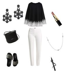 """""""Mrs.Moody"""" by aleenadolphins2004 ❤ liked on Polyvore featuring Basler, Chanel, Kate Spade, Elsa Peretti, Bobbi Brown Cosmetics and Lancaster"""
