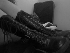 high laced boots
