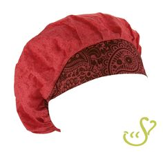Cute pink floral with coordinating wine paisley print for a classic look. #Nurses #Scrubs #Hats #Fundraiser
