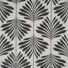 Vogue Charcoal Palm Wallpaper - W0003/05 | Clarke & Clarke | Serendipity Home Interiors