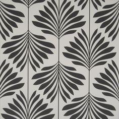 Clarke & Clarke Wallpaper Leaf/Foliage/Vine Black/White – White and Black Wallpaper