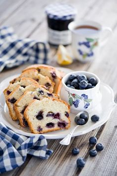 desserts [Look up blue berry bread recipe]