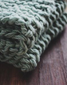 simple Quick Knit Throw #knittingneedles