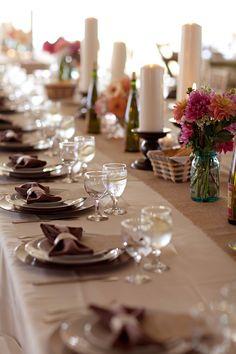 Mesa linda de festa de casamento. Foto: Amanda K.