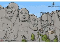 Who would be on your MMA Mount Rushmore?  Artwork: @davidcarvalhoc #mma #ufc