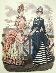 Fashion plate, 1880s
