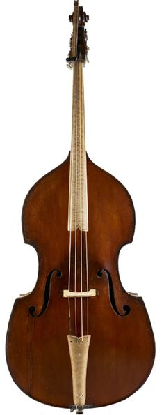 German Double Bass - nice contrasting wood on extension, finger board and tail piece.