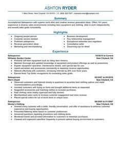 furniture sales resume examples - google search   resumes ... - Examples Of Sales Resumes