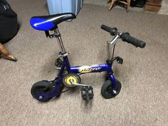 Blue Micro Clown /Trick Bike Bicycle Adjustable | eBay
