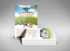 Dog walking business flyer design