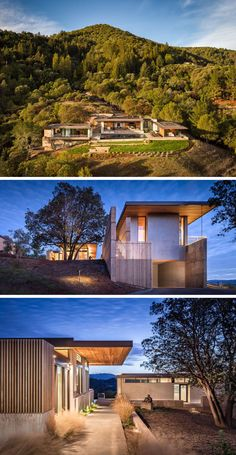 John Maniscalco Architecture have designed modern home in Healdsburg, California, that has views of Dry Creek Valley from every room. #ModernHouse #HouseDesign #Architecture