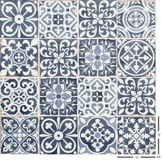 Cool Patterns, Textile Patterns, Floral Patterns, Mosaic Tiles, Wall Tiles, Feature Tiles, Rustic Kitchen, French Kitchen, Inspiring Things