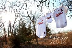 Cute way to announce your baby! Except not Cardinals. Obviously.