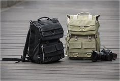 canvas camera backpack by careell