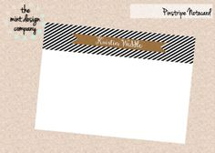 THESE ARE ADORABLE! 20 Custom Black and White Pinstripe Notecards by themintdesigncompany, $15.00