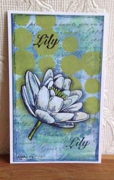 Made by Myra..... : Lily:  de nieuwe stempelset van Artjouney