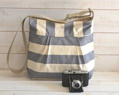 Water Proof Cross body bag / Diaper bag STOCKHOLM Gray  by ikabags,
